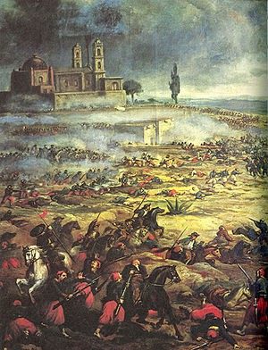 Charge of the Mexican Cavalry at the Battle of Puebla, Francisco P. Miranda