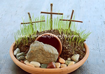 Make a Resurrection garden as a lasting symbol of Easter!
