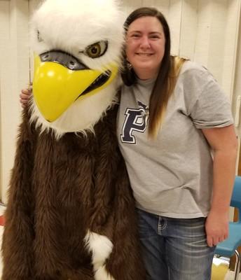 Ms. Jaskot Embraces the Eagle Way