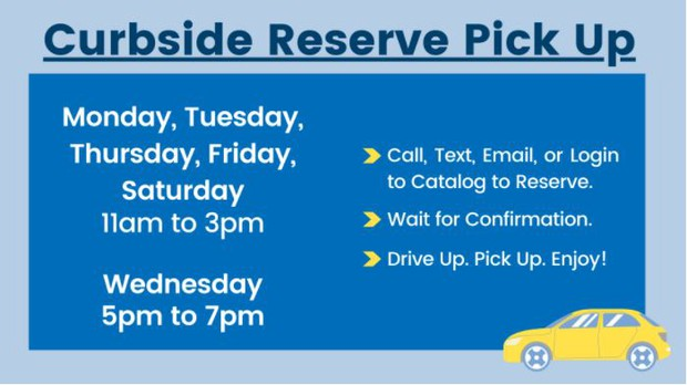 LTCL Curbside Pickup Information can be obtained here.