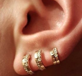 Pave Trio Earring