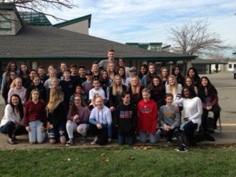 The leadership class, Mrs. Meyer and Kevin Laue