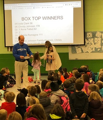 Box Top Winners at Our Assemblies