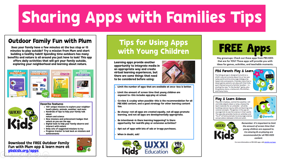 Downloadable/Printable Resources to Share with Families