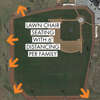 Baseball Seating: Lawn Chairs