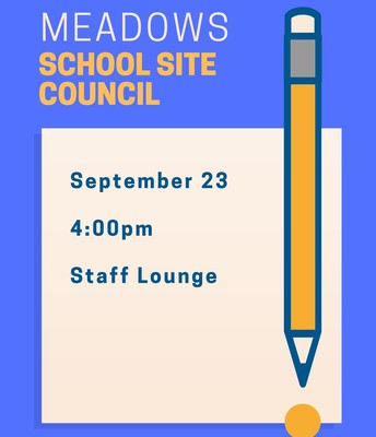 School Site Council Meeting this Monday, 9/23