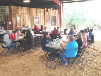 Dining and planning at the Ranch