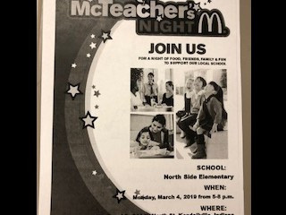 Monday night is McTeacher Night!