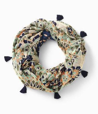 Reversible infinity scarf,  mosaic