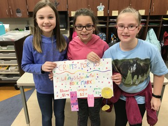 3rd-Grade Science and Social Studies students held an Entrepreneur Fair as part of their economics study