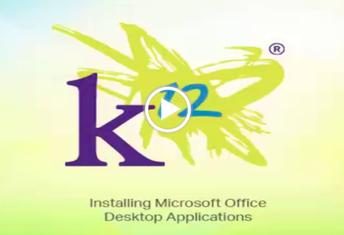 Screenshot links to video: Installing Microsoft Office Desktop Applications