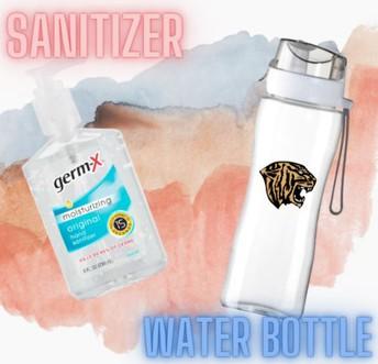 Sanitizer & Water Bottle: