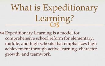What is Expeditionary Learning?