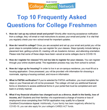 Top 10 Frequently Asked Questions for College Freshmen