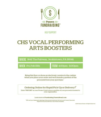 Tonight! CHS Panera Fundraiser