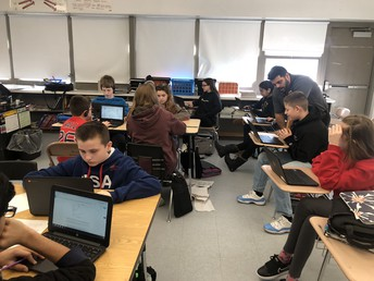 Middle School Students Learning Through Technology Tools