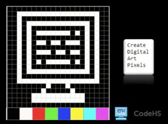 Digital Art in Pixel in CodeHS