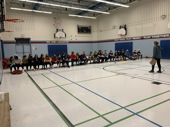 Setting up our next inter-school challenge - intermediates are signed up and ready to compete in the shooting challenge. Pushing for personal bests!