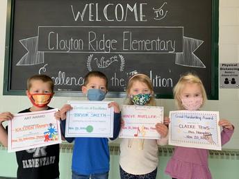 Preschool Award Winners