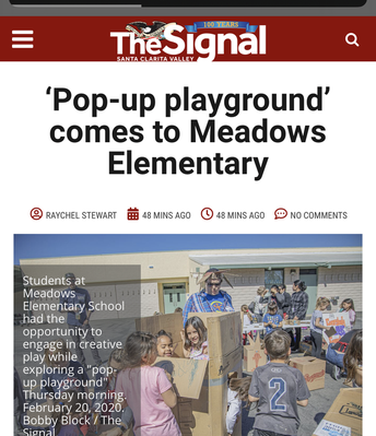 The Signal Features Meadows for Cardboard Playground