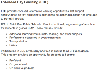 Extended Day Learning