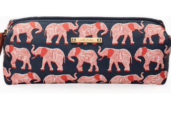 Pouf Slim - Navy/Orange Elephant