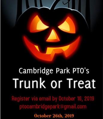 Cambridge Park's Trunk or Treat 👀