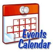 UPDATED!  Printable Events Calendar