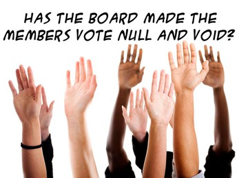 Has the Board made the members vote of 7 directors null and void?
