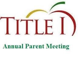 Annual Title I Meeting          5:30-6pm