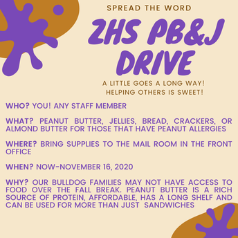 ZHS Peanut Butter and Jelly Drive