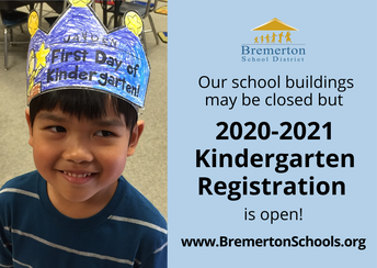 2020-21 kindergarten registration open!