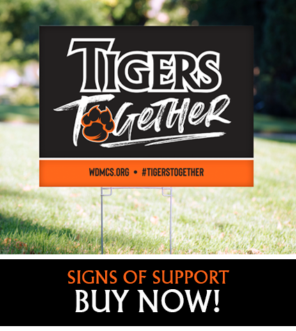 Tigers Together senior yard signs graphic