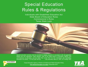 Special Education Rules and Regulations