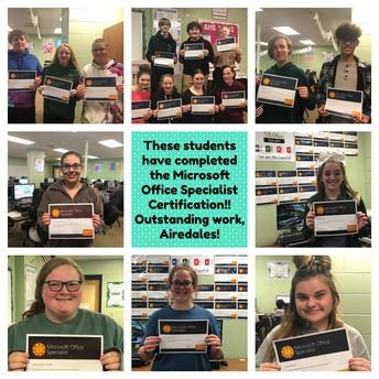 Students Earn Certification