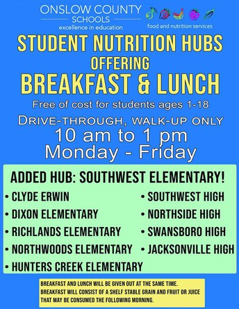 Free Meals Available for OCS Students