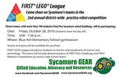 SYCAMORE GEAR FIRST LEGO LEAGUE