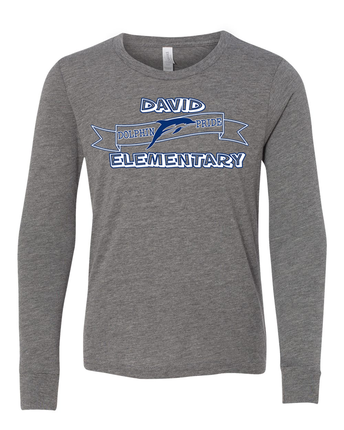 DEADLINE TO ORDER LONG-SLEEVE  GREY DAVID T-SHIRT IS THIS FRIDAY, NOVEMBER 22ND