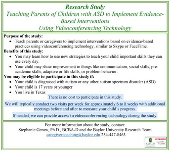 Teaching Parents of Children with ASD to Implement Evidence-Based Interventions Using Videoconferencing Technology