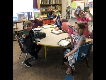 Students used pride points to eat lunch in the classroom