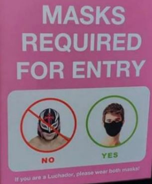 Cubiertas faciales para todos los visitantes a nuestro campus