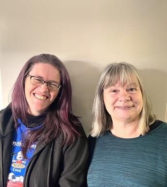 Tessa Herbert and Sue Hewitt