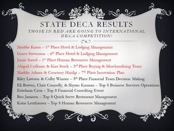Congratulations DECA