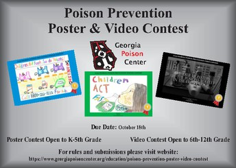 Georgia Poison Center's Poison Prevention Poster Contest