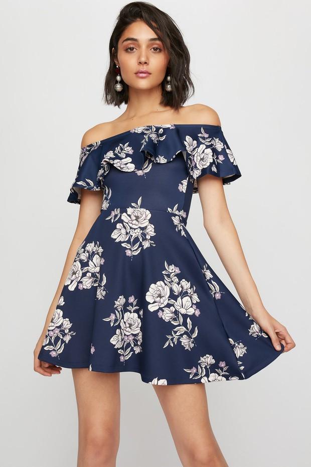 women-flounce dress