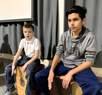 Dallas on the Cajon. Mentoring at its best.