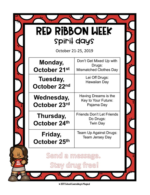 Red Ribbon Week October 21-25