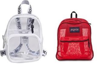 Clear or Mesh Backpacks