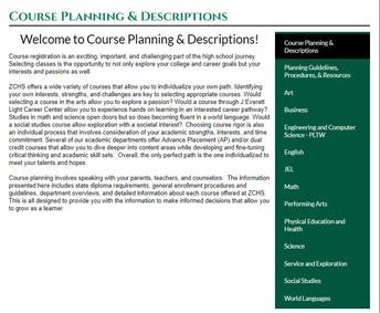 ZCHS Course Planning & Descriptions