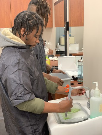 Hutchings College and Career Academy Barbering Students Enter the Lab